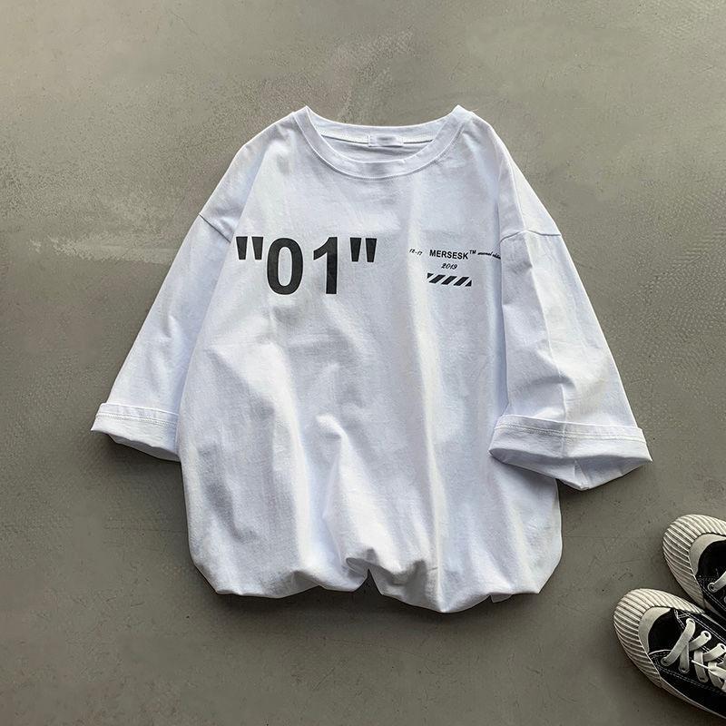 かわいい プリント 半袖 ファッション カジュアル 韓国系 大きいサイズ 夏 ラウンドネック プルオーバー Tシャツ ブラウス tブラウス