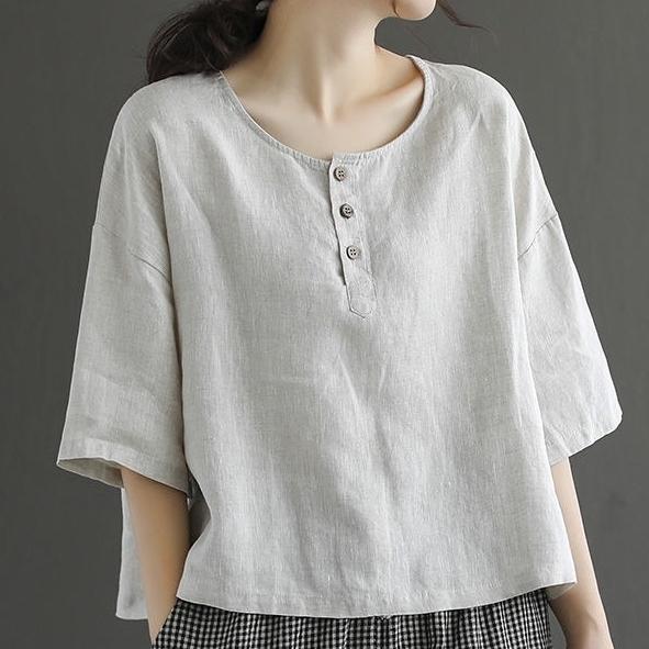シャリ感 すがすがしい 無地 半袖 シンプル スリット ショート丈 夏 ラウンドネック プルオーバー Tシャツ