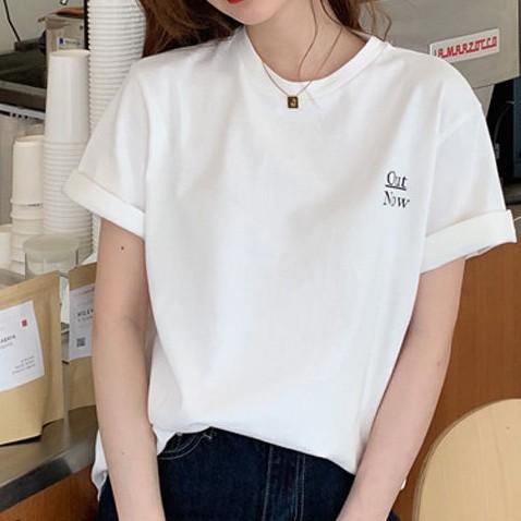 アルファベット半袖シンプルファッションカジュアル韓国系一般なし一般夏ラウンドネックプルオーバーTシャツ