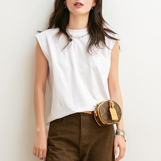 無地半袖シンプルファッション夏ラウンドネックプルオーバーTシャツ