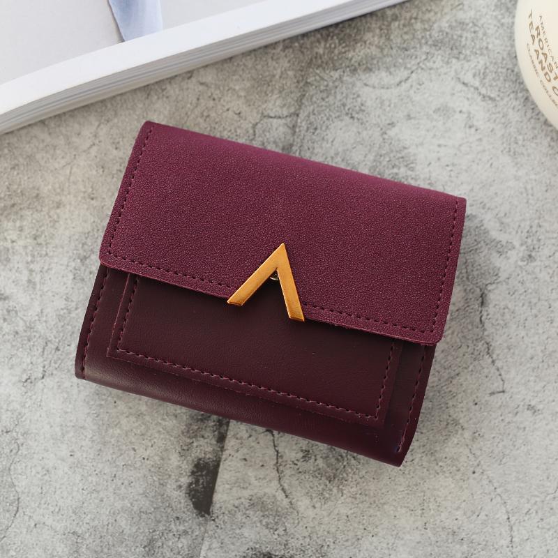 オールシーズンPUマグネット手持ち配色カジュアルレトロ切り替えハンドバッグ・財布