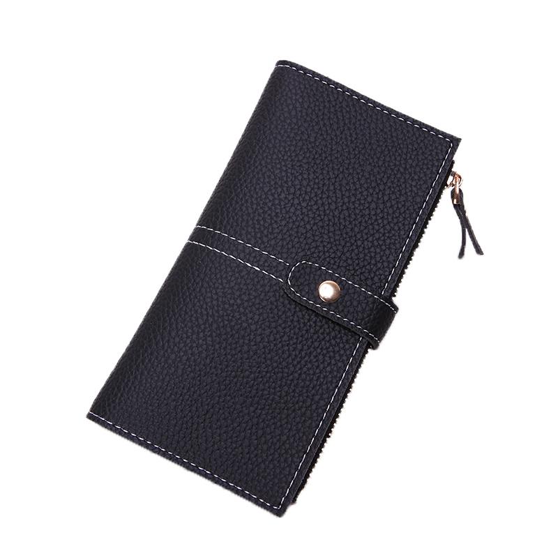 オールシーズンPUマグネット手持ち無地シンプル定番切り替えハンドバッグ・財布