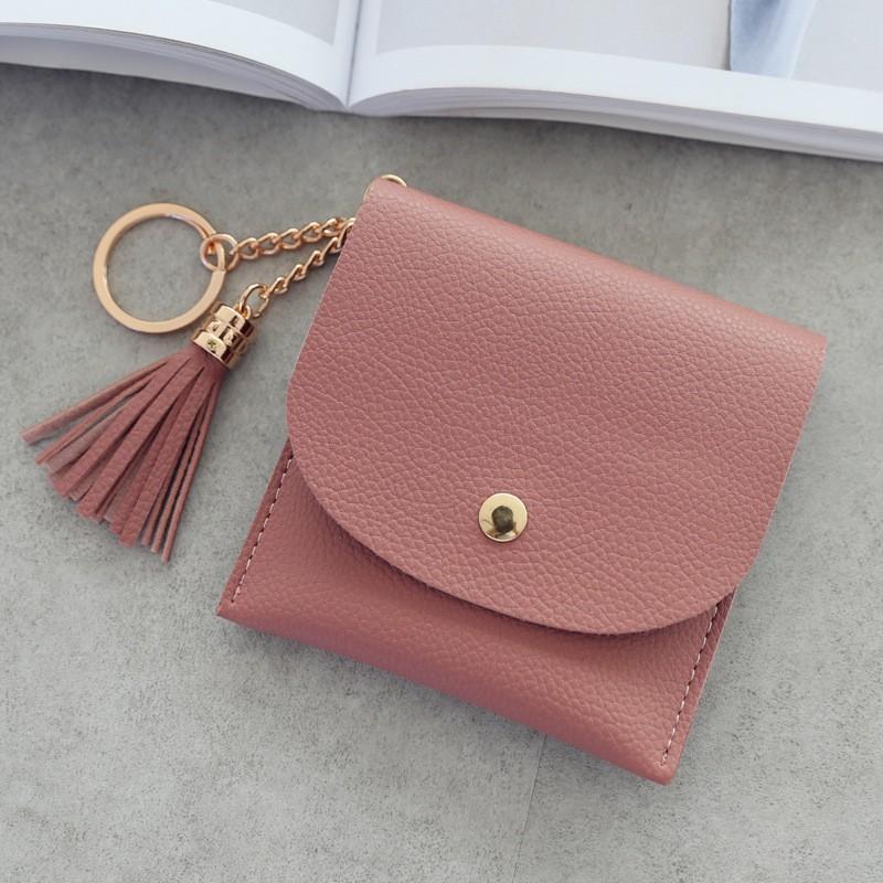 オールシーズンPUホック手持ち無地ファッションタッセルハンドバッグ・財布