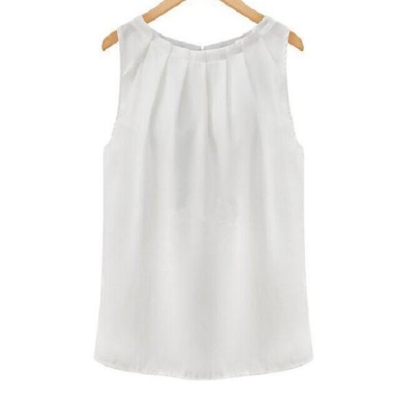 無地ポリエステルノースリーブシンプルファッション韓国系フェミニンなし一般春夏秋キャミソールプルオーバータンクトップ・キャミソール