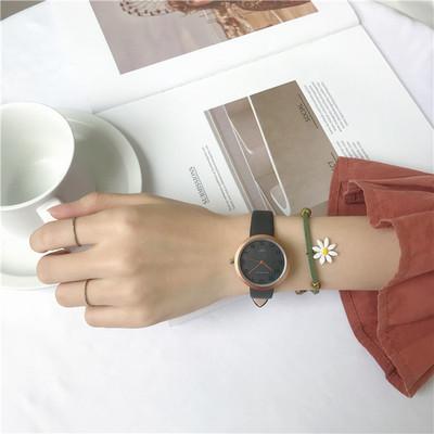天然石写真通り合成皮革機械式時計その他配色縁取りその他ラウンド耐水深度10Mファッションシンプル優雅腕時計