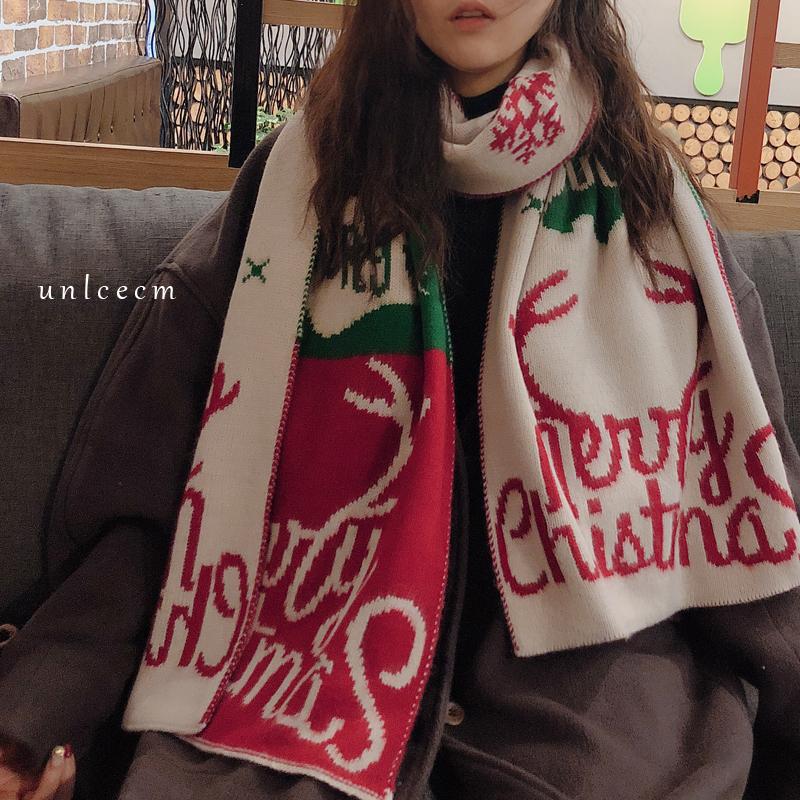 カートゥーンファッションスウィートキュートなし秋冬写真通りマフラー
