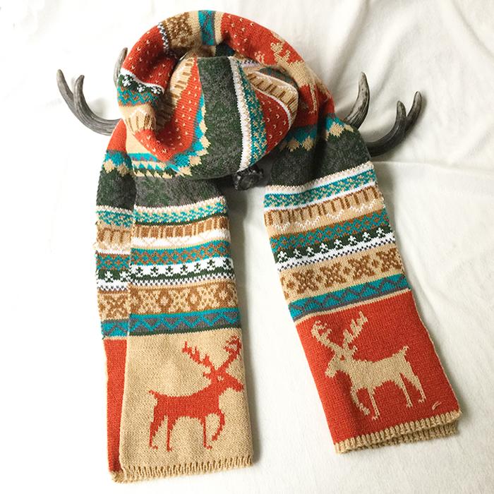 動物柄ファッション切り替え秋冬写真通りマフラー