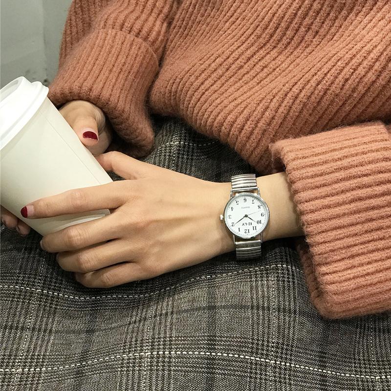合金ブラック系ホワイト系合金クォーツ時計リトルニードルその他ラウンド耐水深度10Mファッションカジュアル腕時計