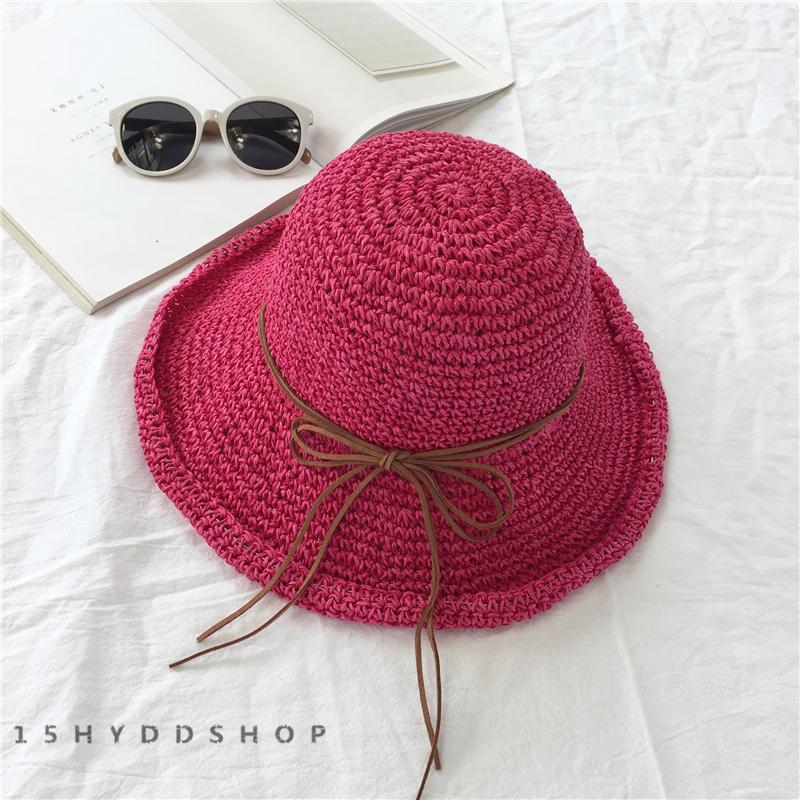 透かし彫りベージュローズ切り替え草編みサークル帽子
