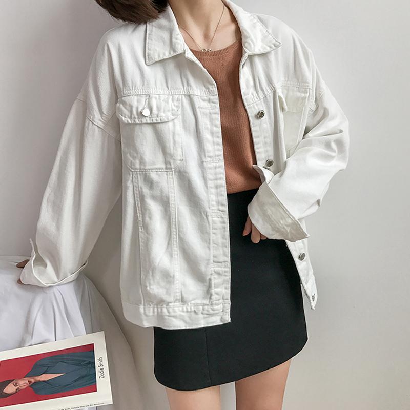 無地ポリエステル長袖シンプルファッションカジュアル韓国系一般なしショート丈春秋POLOネックシングルブレストジャケット