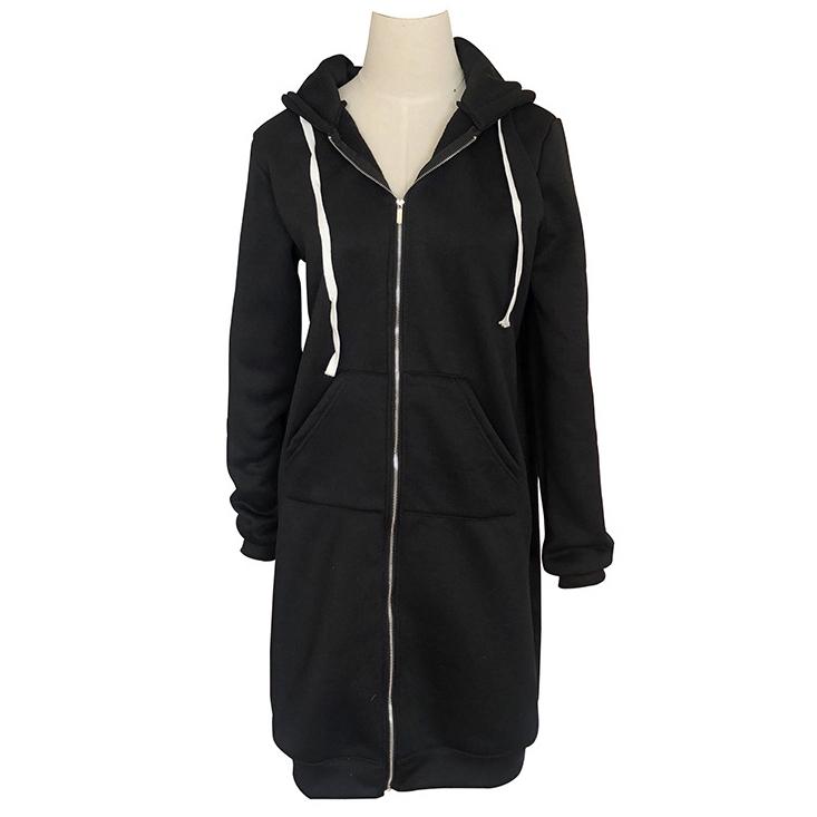 無地ポリエステル長袖シンプルカジュアル一般なし一般冬春秋フード付きジッパージャケット