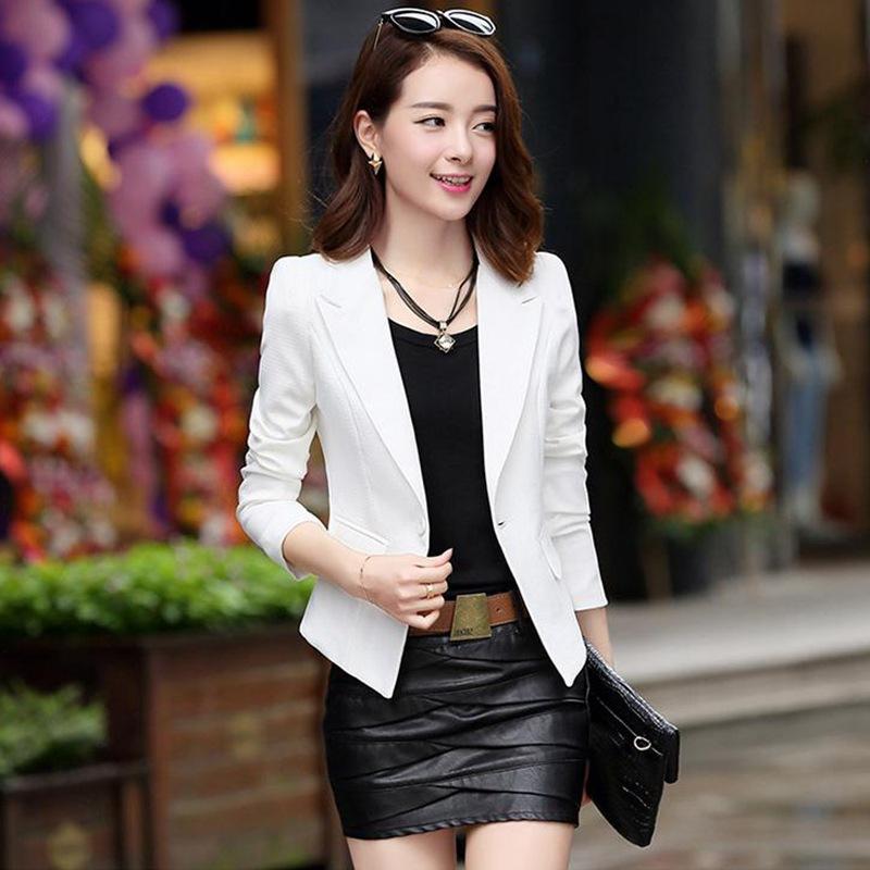 無地ポリエステル長袖シンプル一般切り替え一般春折襟ボタンピンクホワイトブラックブルースーツ