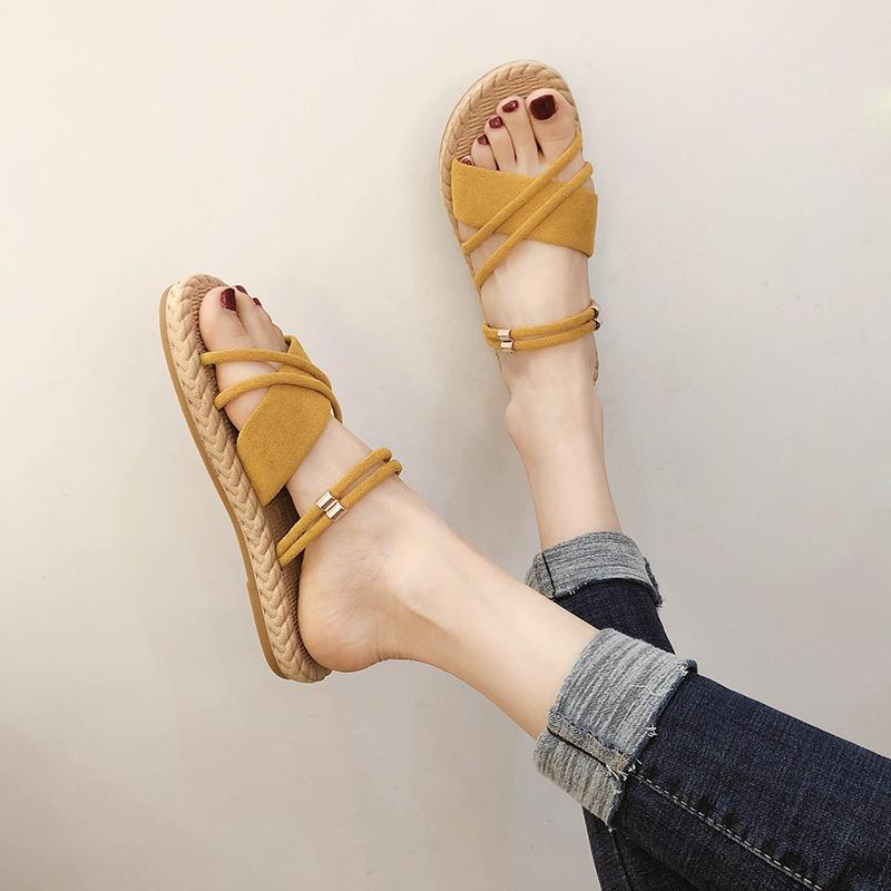 2020新品!2way 美脚 歩きやすい ビーチサンダル 韓国ファッション 夏 カジュアル シンプル サンダル スリッパ