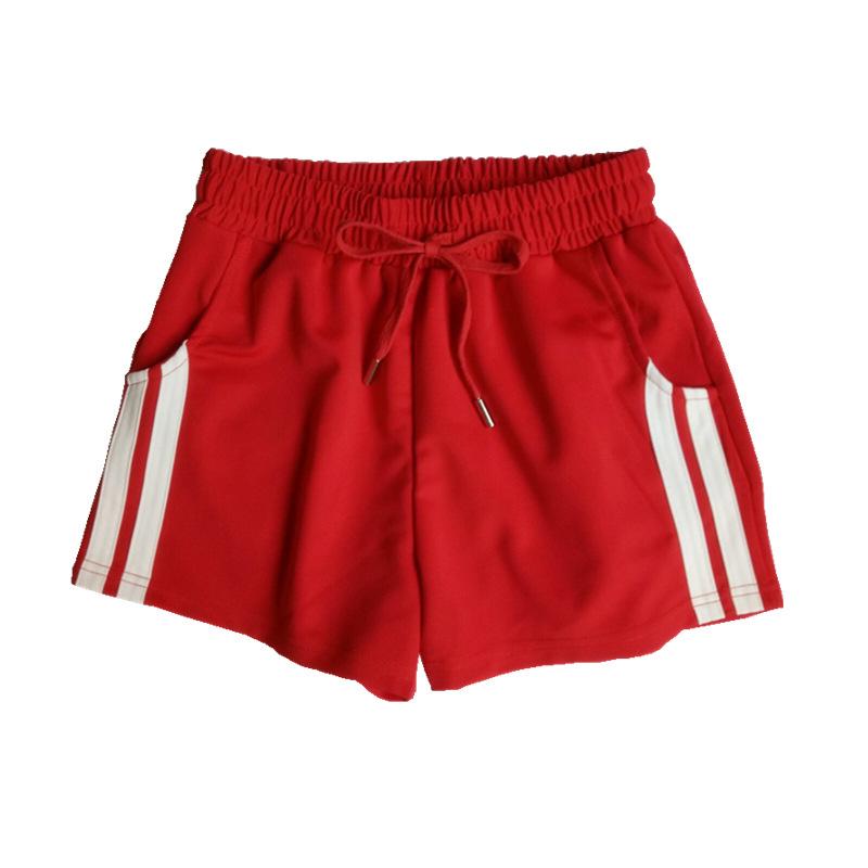ストライプ柄ポリエステルシンプルスボーツ系ファッションカジュアルなし夏レギュラーウエストショート丈(3分4分丈)ショートパンツ