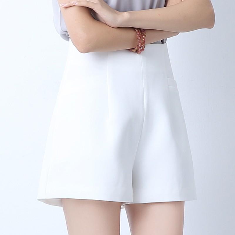 無地ファッション夏ハイウエストショート丈(3分4分丈)ショートパンツ