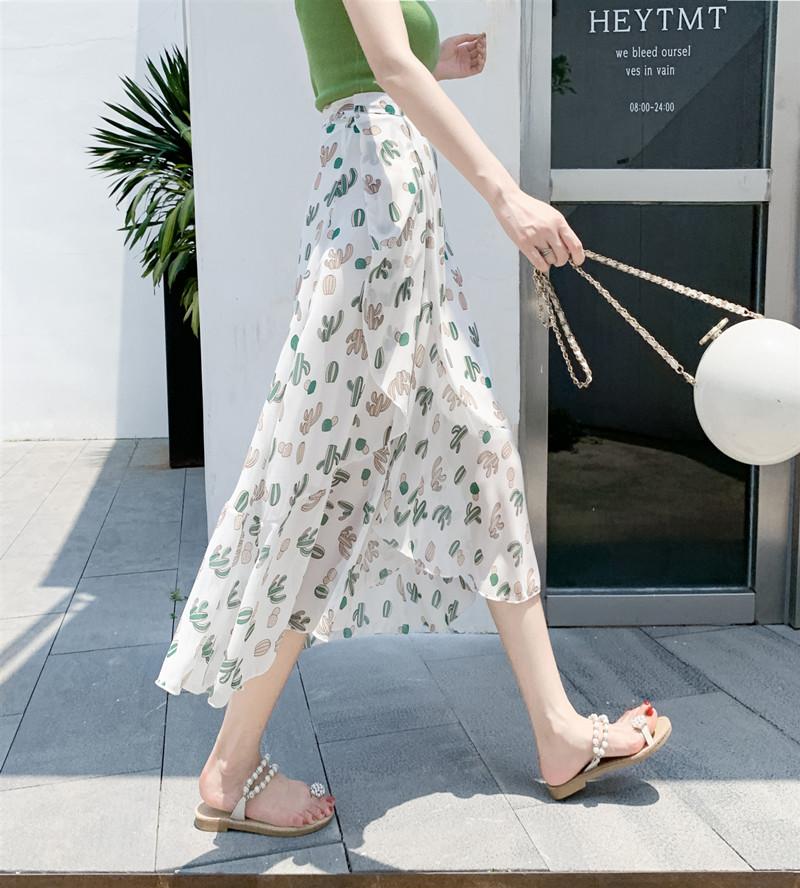 小柄ファッションボウタイすね丈夏ハイウエストAラインスカート